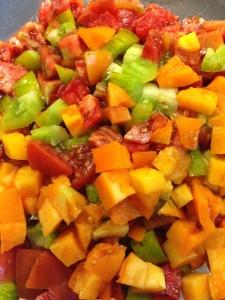 Diced Heirloom Tomatoes